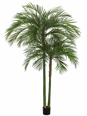 "118"" Artificial Areca Large Palm Tree x2 with 1692 Leaves in Pot"