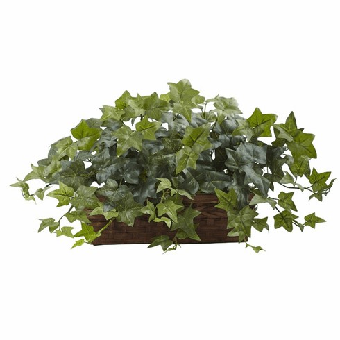 "12.5"" Artificial Puff Ivy with Ledge Basket"
