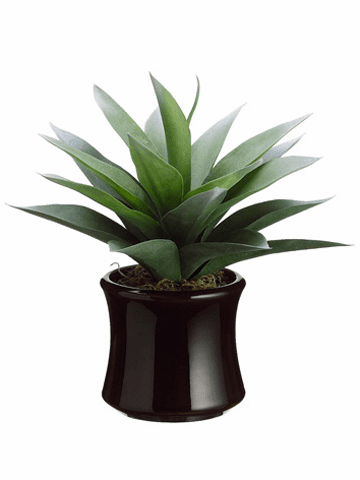 "12"" Agave Artificial Cactus Plant in Decorative Container"