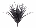 """12"""" Artificial Plastic Vanilla Grass Bush with 44 Leaves - Set of 24"""
