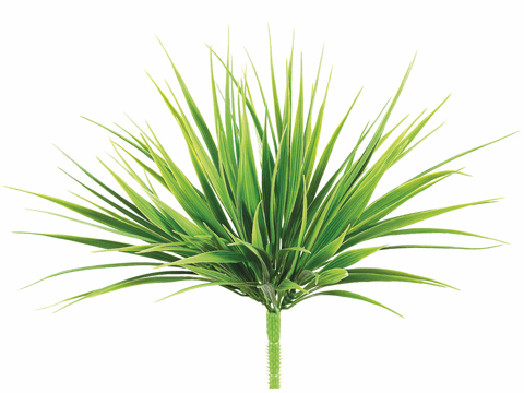"12"" Artificial Vanilla Grass Bush Pick - Set of 12"