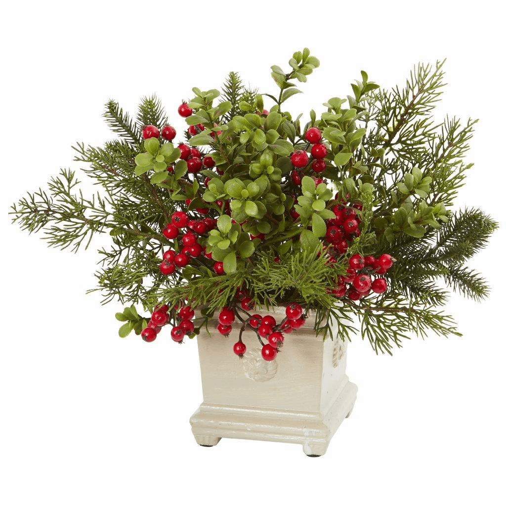 """12"""" Holiday Berry and Pine Artificial Arrangement"""