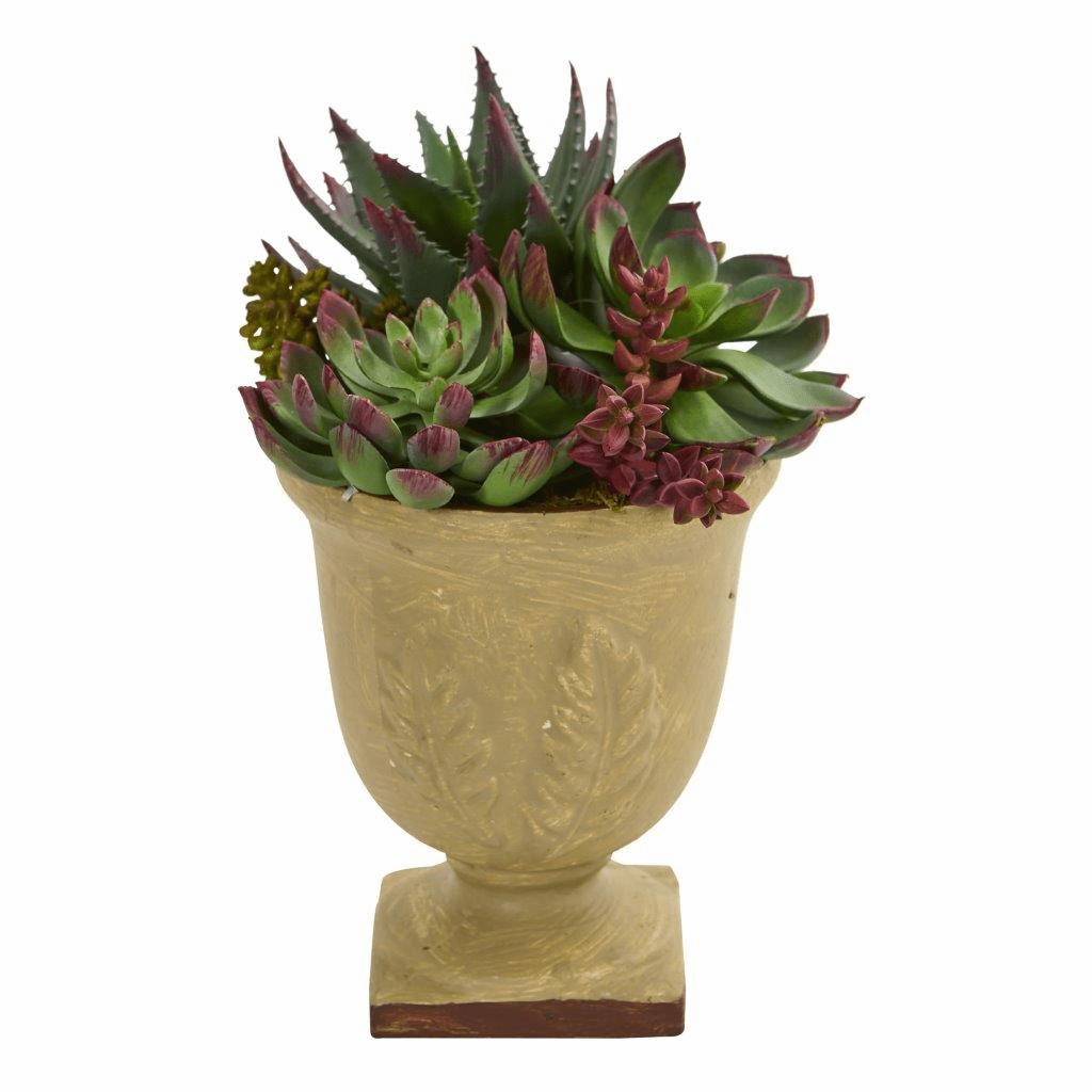 "12"" Mixed Succulent Artificial Plant Arrangement"