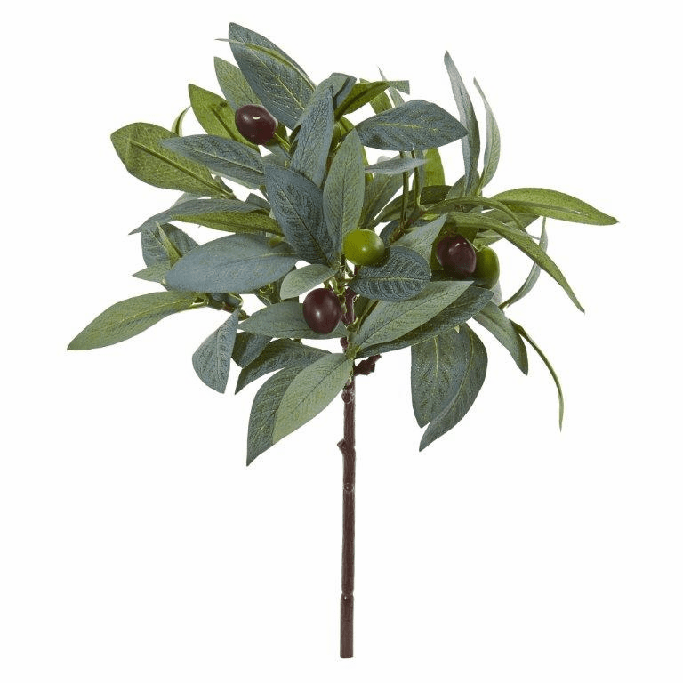 12� Olive Branch Artificial Plant with Berries (Set of 12)