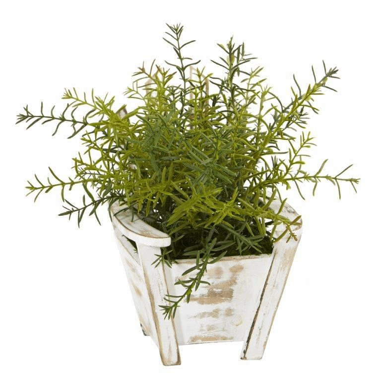 12� Rosemary Artificial Plant in Chair Planter