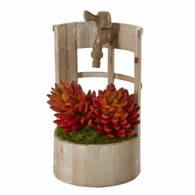 12� Succulent Artificial Plant in Faucet Planter