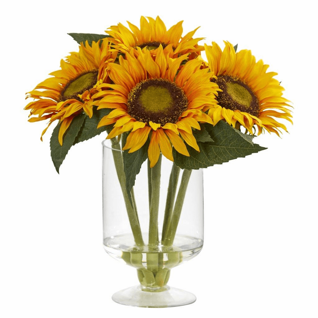 12� Sunflower  Artificial Arrangement in Vase