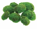 """12""""W x 12""""L Artificial Moss Ball in Bag (2 large/3 medium/3 small)-8 Bags"""