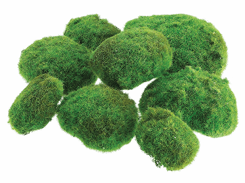 "12""W x 12""L Artificial Moss Ball in Bag (2 large/3 medium/3 small)-8 Bags"