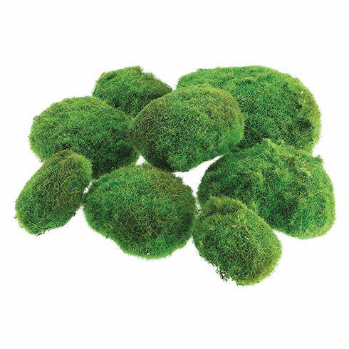 "12""Wx12""L Artificial Moss Ball in Bag (2 large/3 medium/3 small) -   1 Bag"