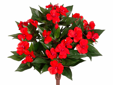 "13.7"" New Guinea Impatiens Silk Bushes - Set of 6"