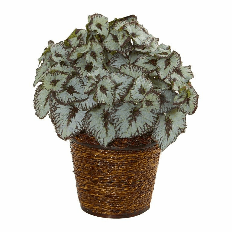 13� Begonia Artificial Plant in Basket