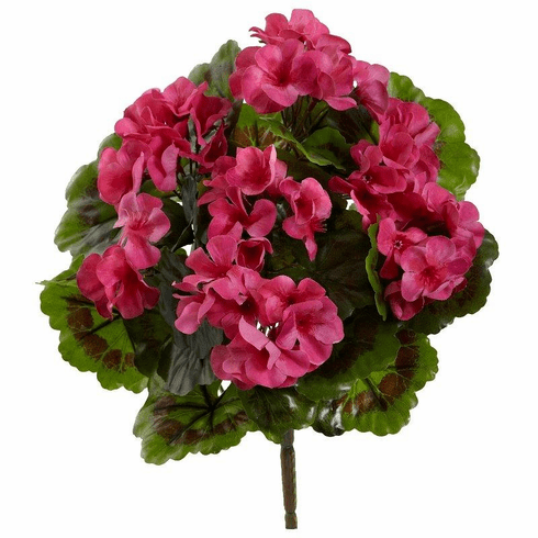 "13"" Geranium Artificial Bush UV Resistant (Indoor/Outdoor) (Set of 4)"