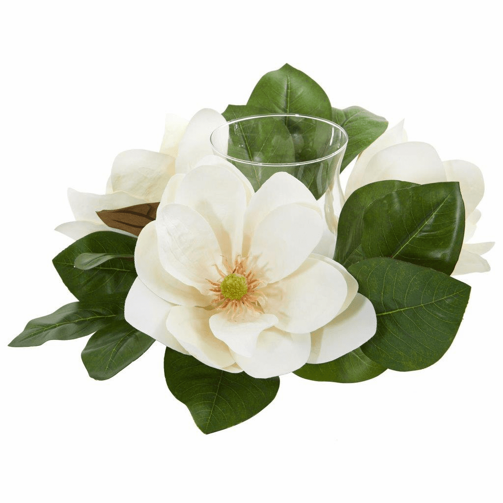 13� Magnolia Artificial Candelabrum Arrangement