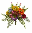13� Mixed Flowers Artificial Bush (Set of 2) - N/A