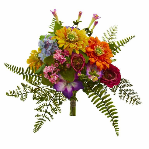 """13"""" Mixed Flowers Artificial Bush (Set of 2) - N/A"""
