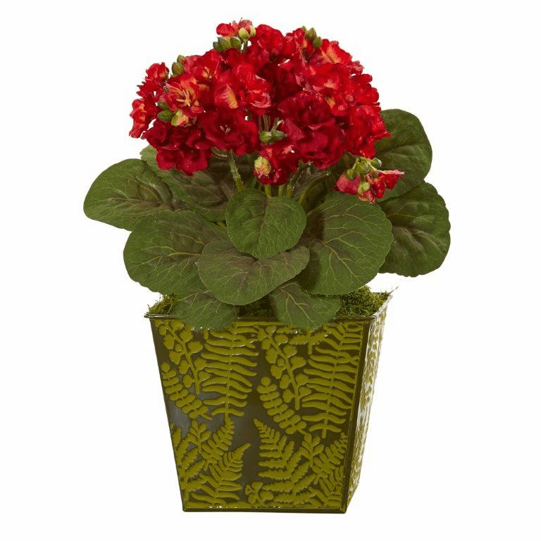 13� Violet Artificial Plant in Green Planter