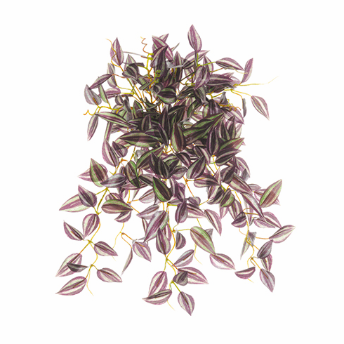 "14.9"" Artificial Mini Wandering Jew Hanging Bush with 234 Leaves - Set of 12"