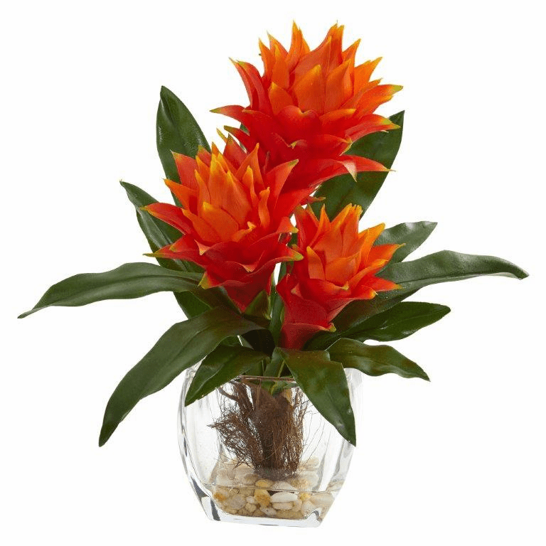 14� Bromeliad Artificial Plant in Tapered Vase