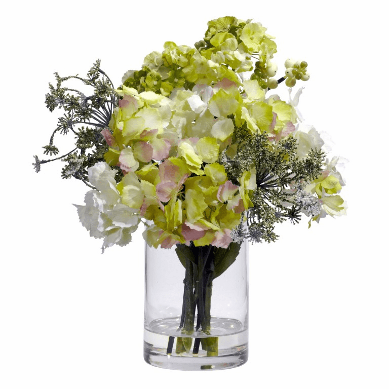 "14"" Hydrangea Silk Flower Arrangement"