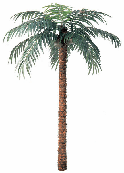 15' Artificial Coconut Palm Tree