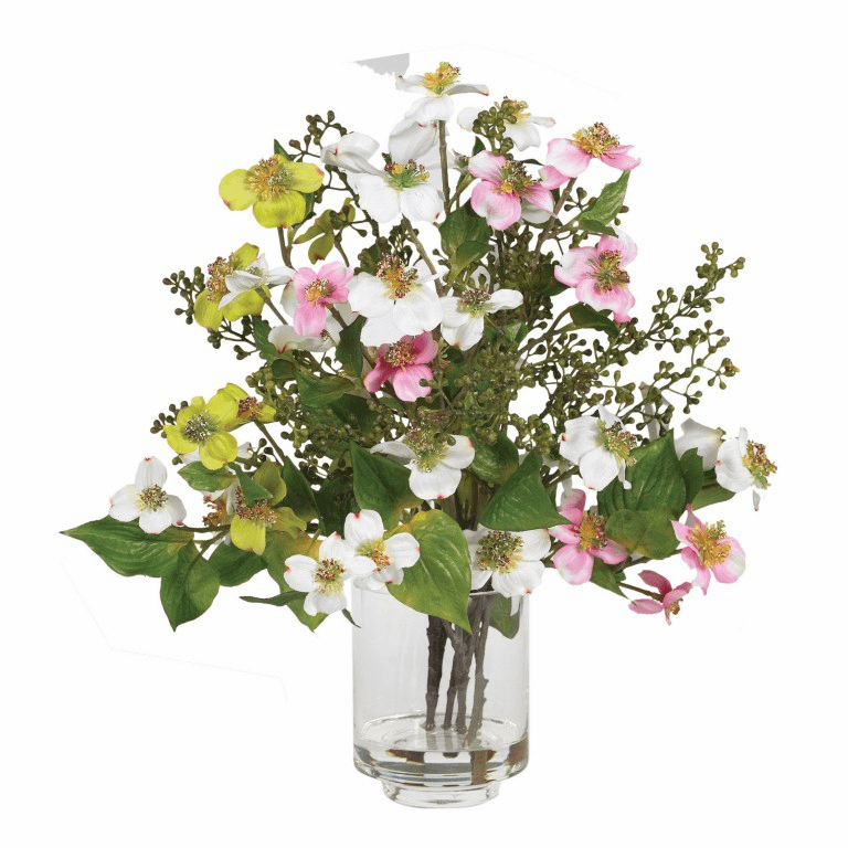 "15"" Artificial Dogwood Silk Flower Arrangement"