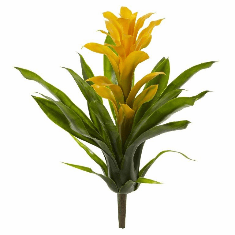 15� Bromeliad Artificial Flower (Set of 4) - Yellow