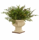 15� Cedar and Blueberry Artificial Plant with Planter