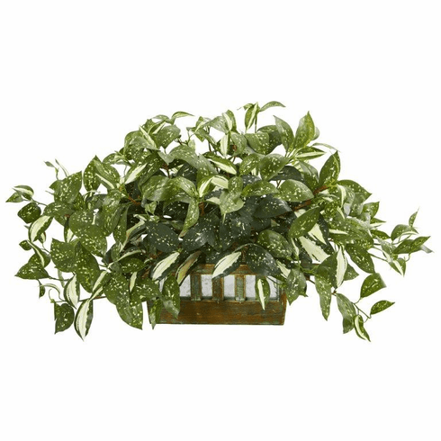 """15"""" Florida Beauty Artificial Plant in Planter"""