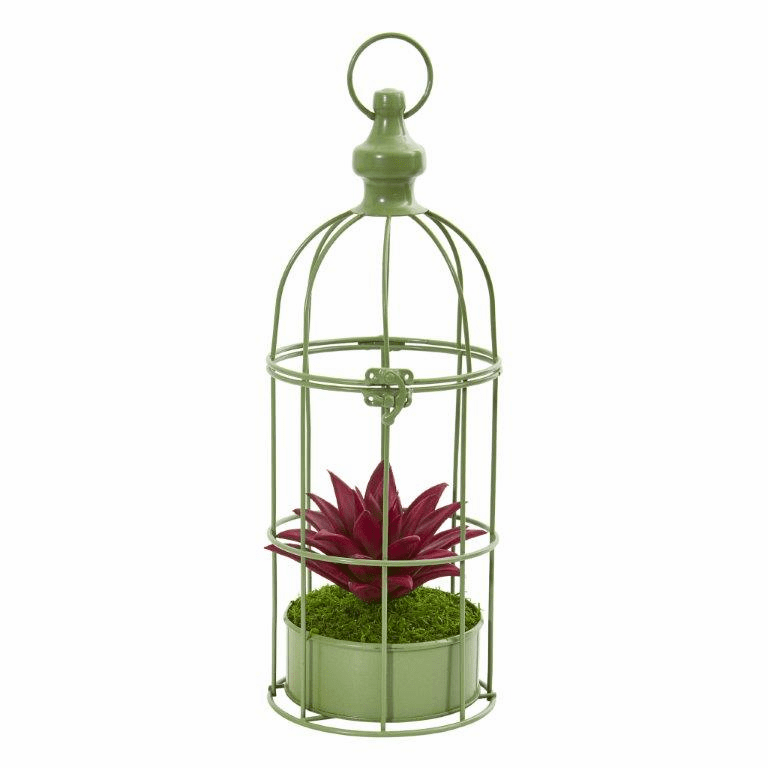 15� Succulent Artificial Plant in Decorative Cage