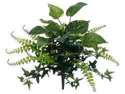 """16"""" Artficial Pothos and Fern Mixed Bush Non Potted - Set of 12"""