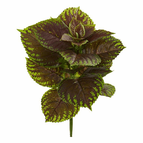 "16"" Coleus Bush Artificial Plant (Real Touch) (Set of 8)"