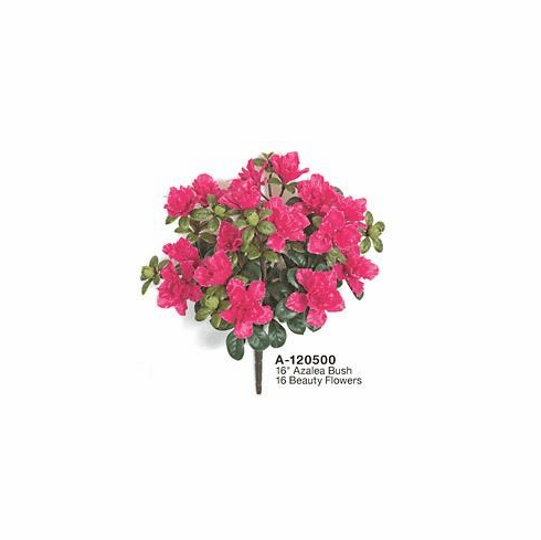 "16"" Outdoor UV Artificial Azalea Flowers - Set of 12 Bushes UV Infused"