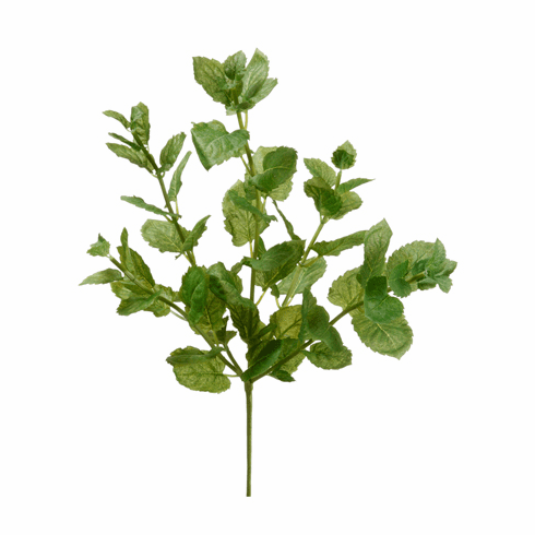 "16"" Peppermint Leaf Artificial Bush Stems - Set of 12"