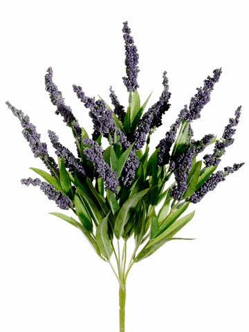 "17.5"" Artificial Lavender Flower Bush - Set of 12"