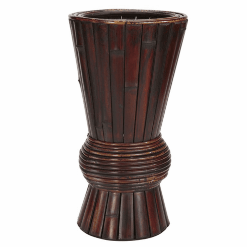 "17"" Bamboo Decorative Planter"