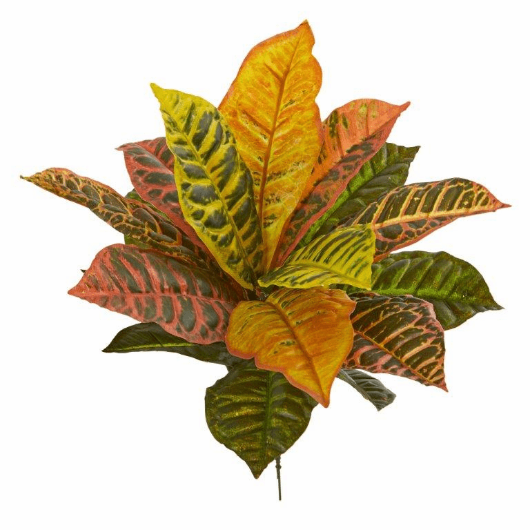 17� Garden Croton Artificial Plant (Real Touch) (Set of 6)
