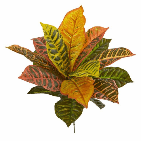 "17"" Garden Croton Artificial Plant (Real Touch) (Set of 6)"