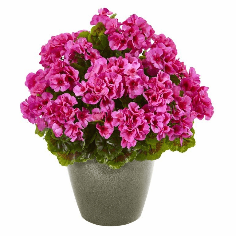 17� Geranium Artificial Plant UV Resistant (Indoor/Outdoor) - Beauty