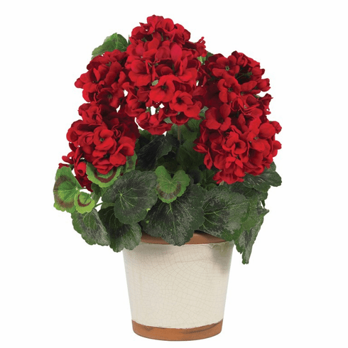 "17"" Geranium Silk Plant Arrangement"