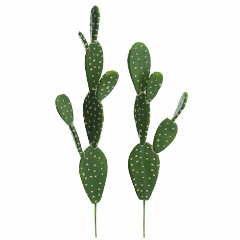 "18.5""-21.5"" Soft Bunny Ear Artificial Cactus (2 Assorted/set) - 12 Sets"