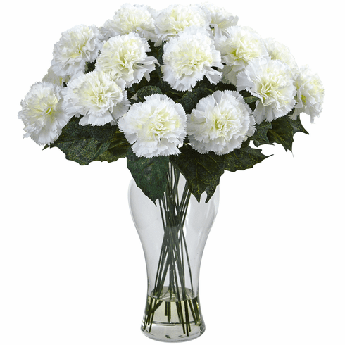 "18"" Blooming Carnation Flower Arrangement with Vase"