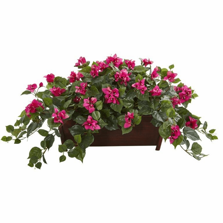 "18"" Bougainvillea Artificial Plant in Decorative Planter - Beauty"