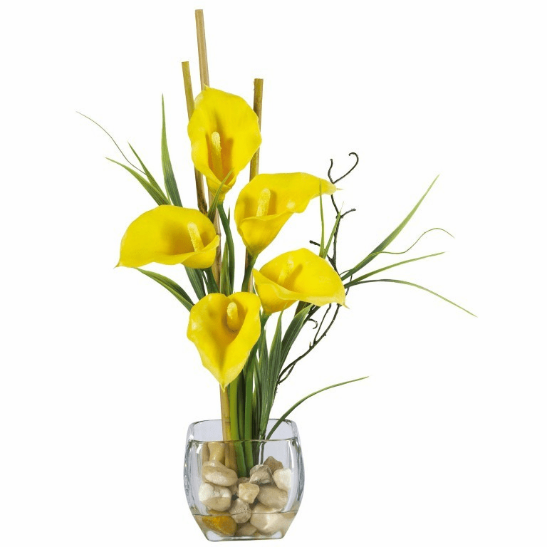 "18"" Calla Lilly Liquid Illusion Artificial Flower Arrangement"
