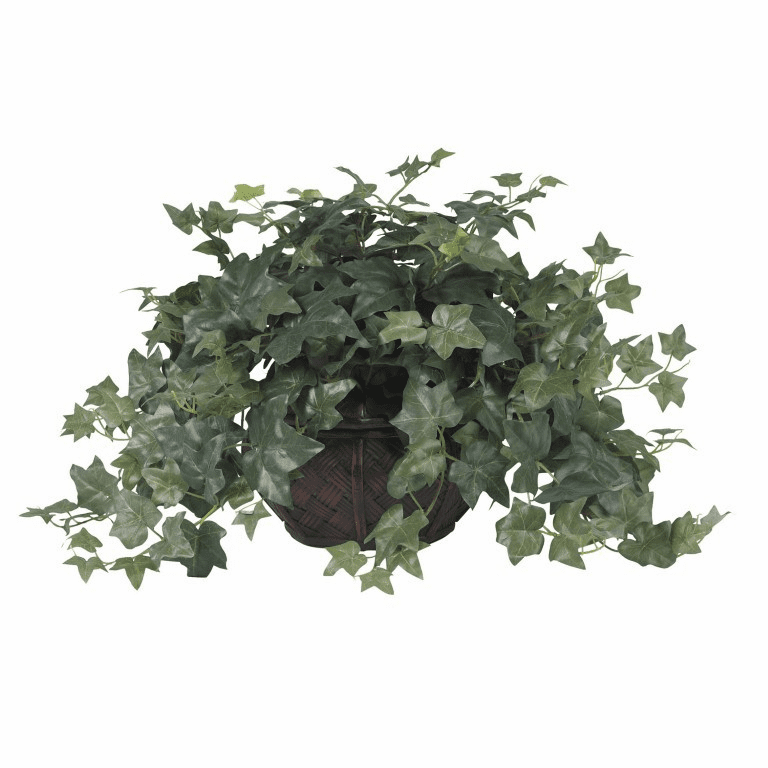 "18"" Puff Ivy with Vase Silk Plant"
