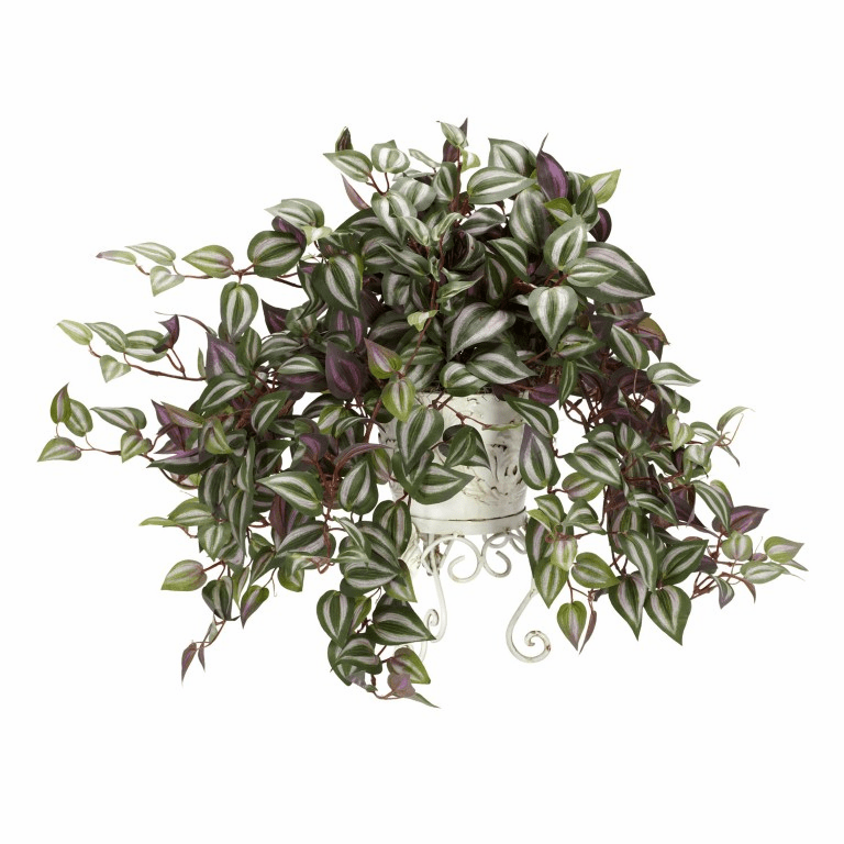 "18"" Wandering Jew with Metal Planter Silk Plant"