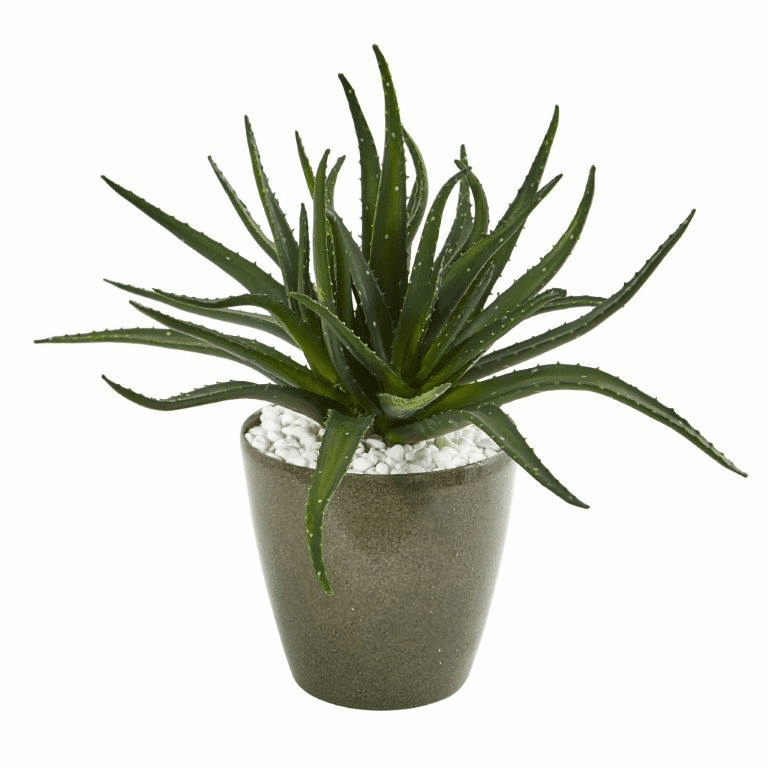 19� Aloe Artificial Plant in Decorative Planter