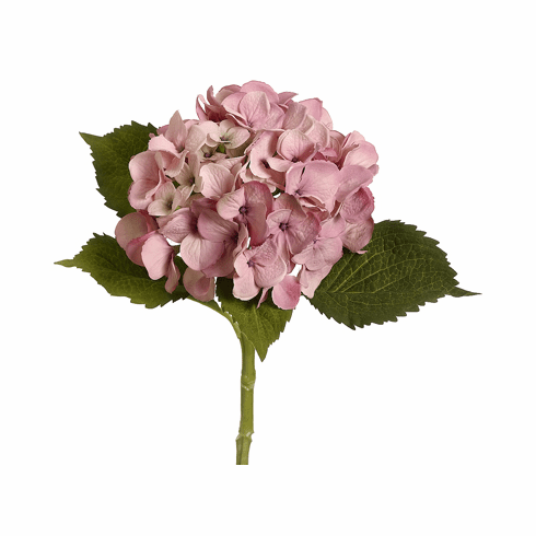"19"" Artificial Silk Hydrangea Stems - Set of 12 (shown in pink)"