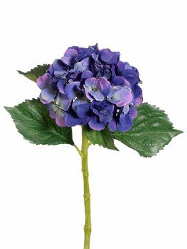 "19"" Artificial Single Hydrangea Spray w/Water-Proof Flower Stem-Set of 12"