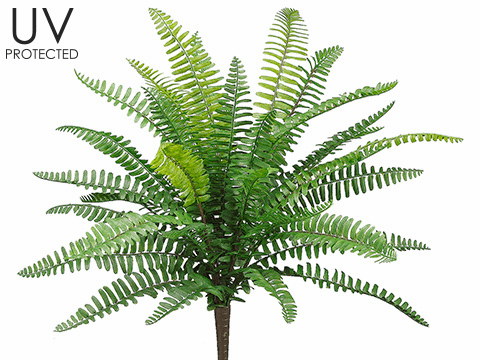 "19"" Outdoor Artificial Fern Plants - Set of 12"